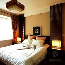2018精选面积78平小户型卧室中式效果图片