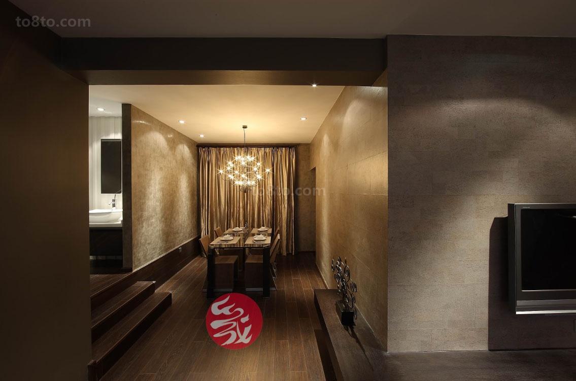 热门面积72平现代二居餐厅装修图片大全