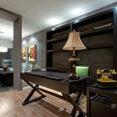 86平米二居书房东南亚装修实景图片欣赏