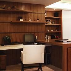 精选86平米二居书房中式装修实景图片