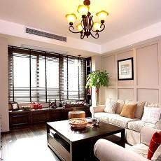 面积76平小户型客厅中式效果图片大全