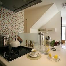 精美面积95平现代三居厨房效果图