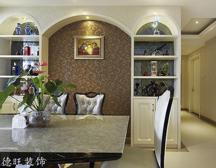 面积77平简约二居餐厅装修实景图片