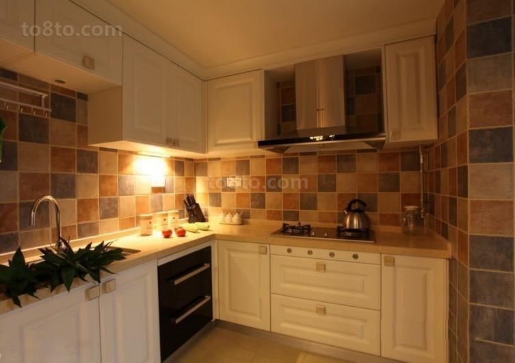 精美面积86平小户型厨房欧式装修效果图片大全