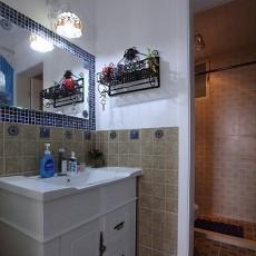 精选73平米地中海小户型卫生间装修设计效果图片大全