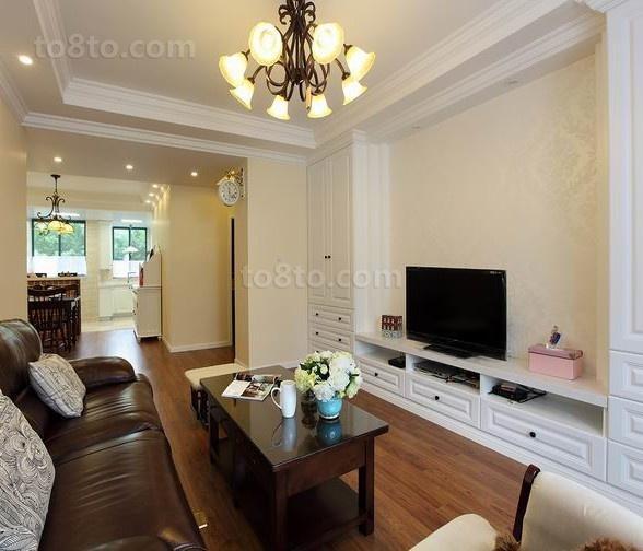 精美70平米美式小户型客厅实景图-土巴兔装修效果图