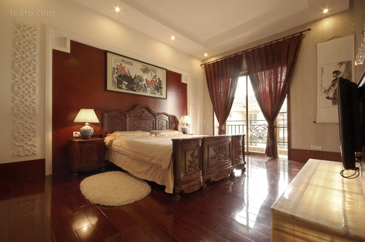 精选面积86平中式二居卧室装修图
