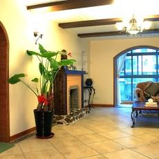 热门90平米二居客厅田园装修图