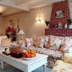 热门140平米田园复式客厅装修图片
