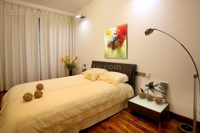 201887平米二居卧室现代装饰图片