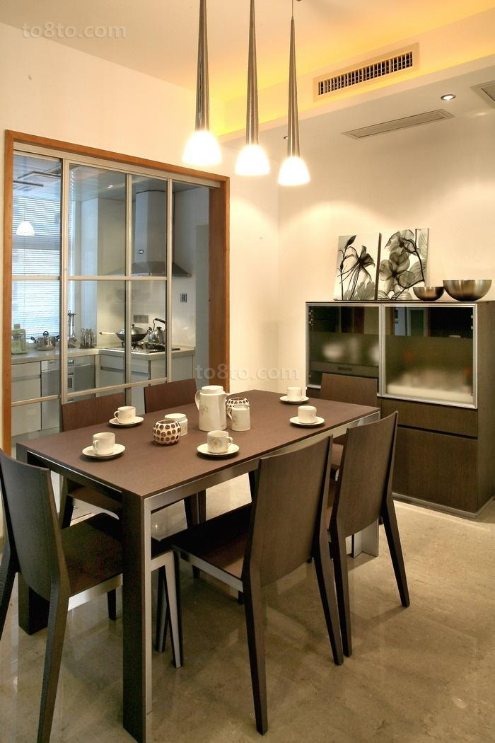 精美82平方二居餐厅现代装修效果图片欣赏