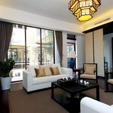 精美面积70平中式二居客厅欣赏图片