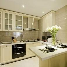 2018精选面积86平欧式二居厨房装饰图片大全