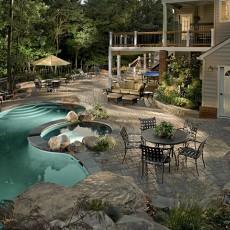 别墅露天泳池装修效果图欣赏