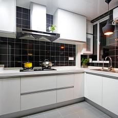 2018面积83平现代二居厨房装修效果图片大全