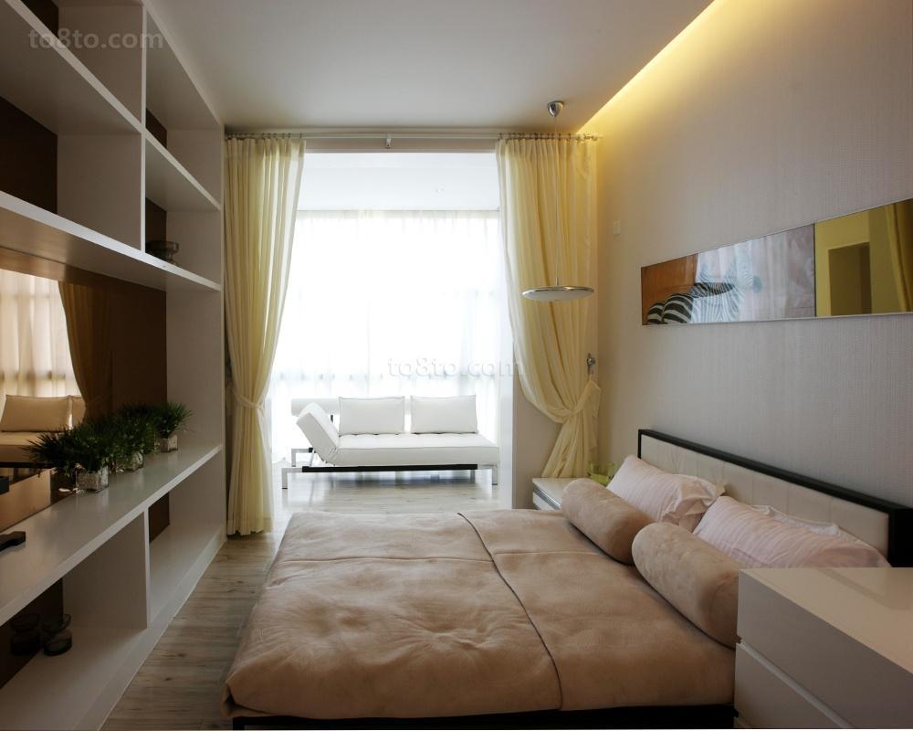 面积82平简约二居卧室装修欣赏图片