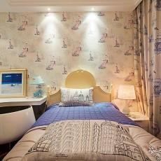 面积88平现代二居卧室实景图片