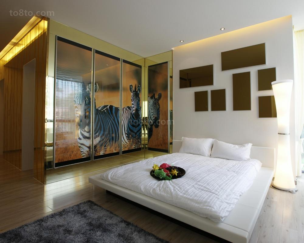 精选面积73平简约二居卧室欣赏图