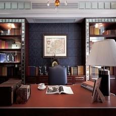 热门面积73平欧式二居书房装饰图