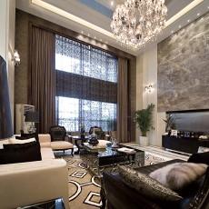 40平米现代欧式别墅客厅装修效果图