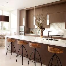 热门128平米现代别墅厨房装修效果图片