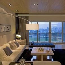 面积75平小户型客厅现代装修效果图片大全