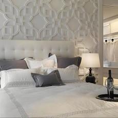 新中式卧室背景墙装修效果图大全2013图片