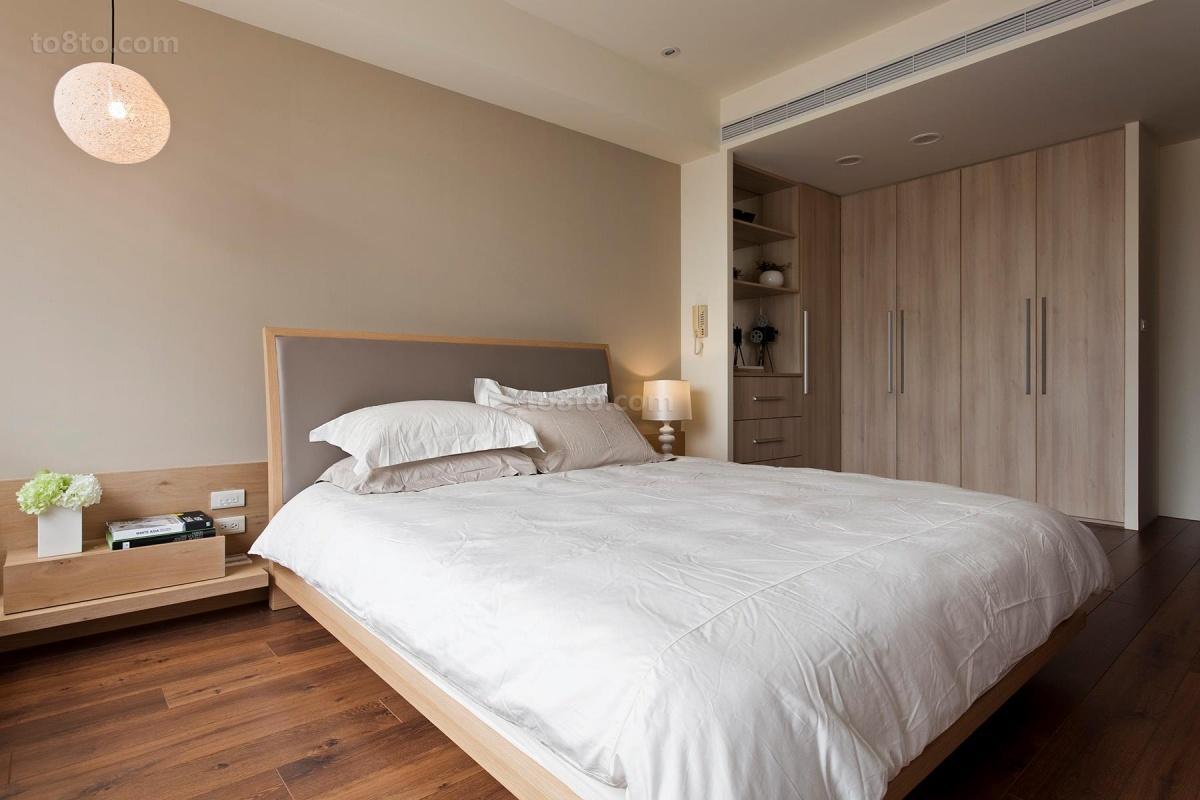 热门面积74平简约二居卧室装修设计效果图