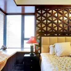 三居卧室东南亚实景图片