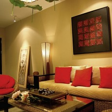 热门东南亚小户型客厅装修图