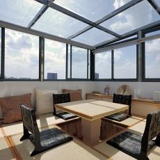 热门面积140平复式阳台现代装修图
