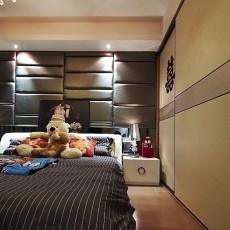 2018现代小户型卧室设计效果图