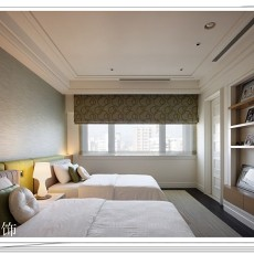 面积88平现代二居卧室装修图