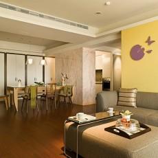 现代风格客厅餐厅背景墙设计效果图