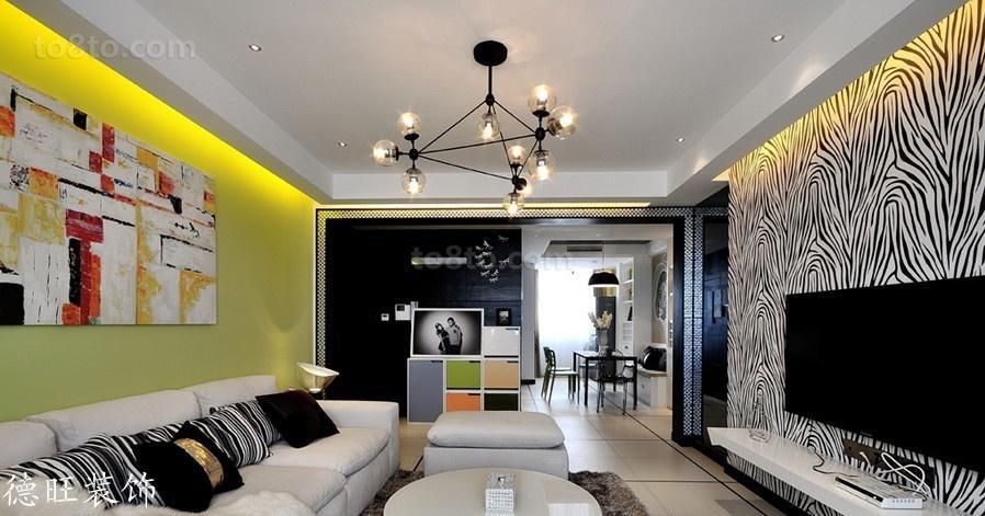 精美面积73平现代二居客厅装修实景图