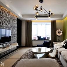 201873平米二居客厅现代装饰图