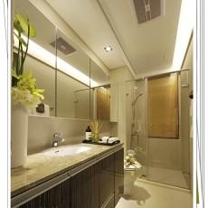 85平米二居卫生间简约装修效果图片