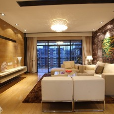 精选80平米现代小户型客厅效果图