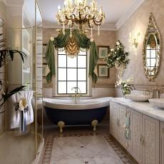 精选面积127平别墅卫生间欧式装修实景图片