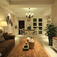 201883平米二居客厅欧式效果图