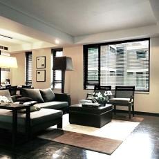 热门面积76平小户型客厅现代装修效果图片大全