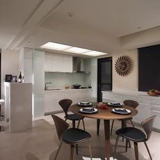 面积78平现代二居餐厅装修实景图片大全