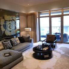 201884平方二居客厅现代装修设计效果图片