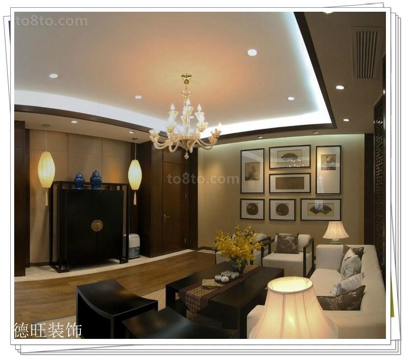 热门77平米二居客厅中式装修欣赏图片大全