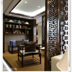 2018精选面积80平中式二居书房装修设计效果图片欣赏