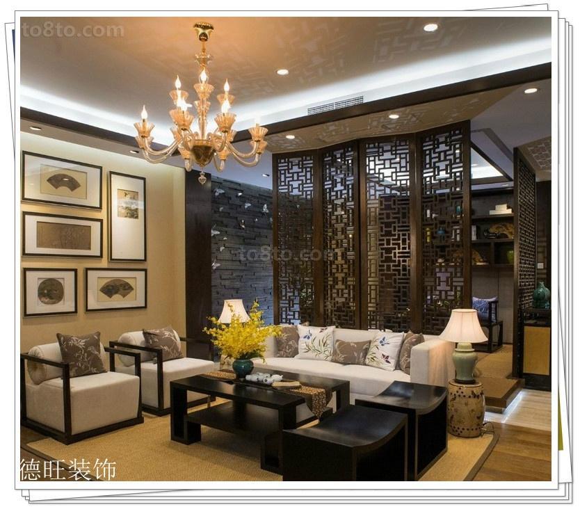中式一居客厅装修欣赏图