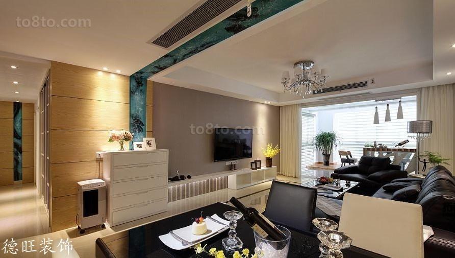 精选90平米二居客厅简约装饰图