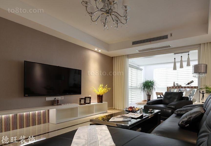 热门简约一居客厅装修设计效果图片大全
