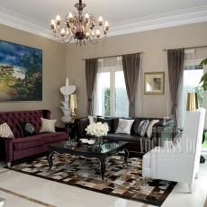 2018精选120平米欧式别墅客厅装修设计效果图片大全