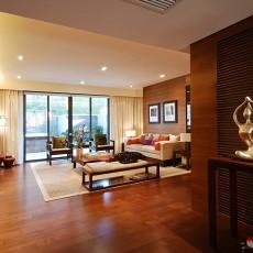 2018面积86平东南亚二居客厅装修图片大全